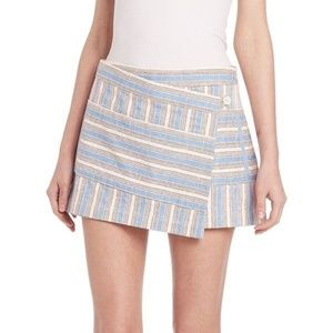 Tory Burch Striped Elena Envelope Skort